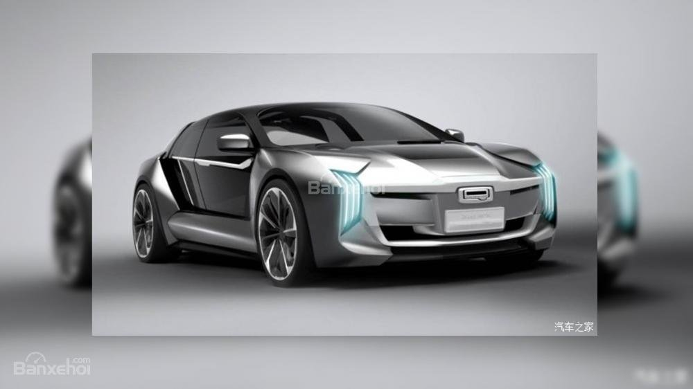 Rò rỉ hình ảnh siêu xe điện Qoros Koenigsegg K-EV 1