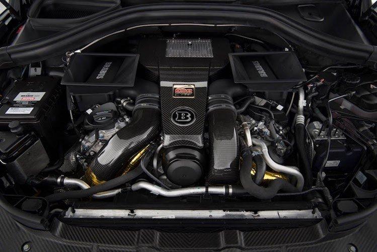 Khoang máy của Mercedes GLS Brabus