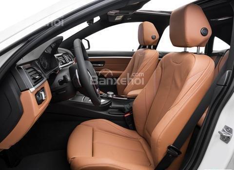 Đánh giá xe BMW 4-Series 2017: Hàng ghế phía trước xe.
