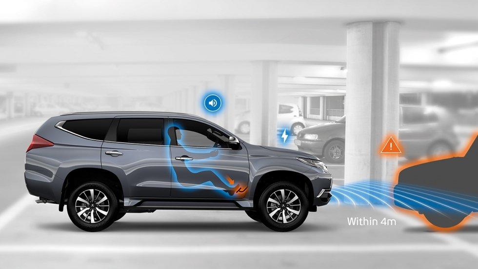 Mitsubishi Pajero Sport 2017 được ứng dụng hàng loạt công nghệ an toàn hiện đại, tiên tiến.