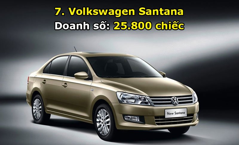 7. Volkswagen Santana.