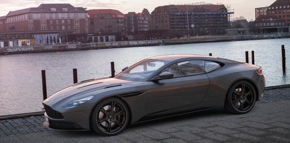 Đầu xe Aston Martin DB11.