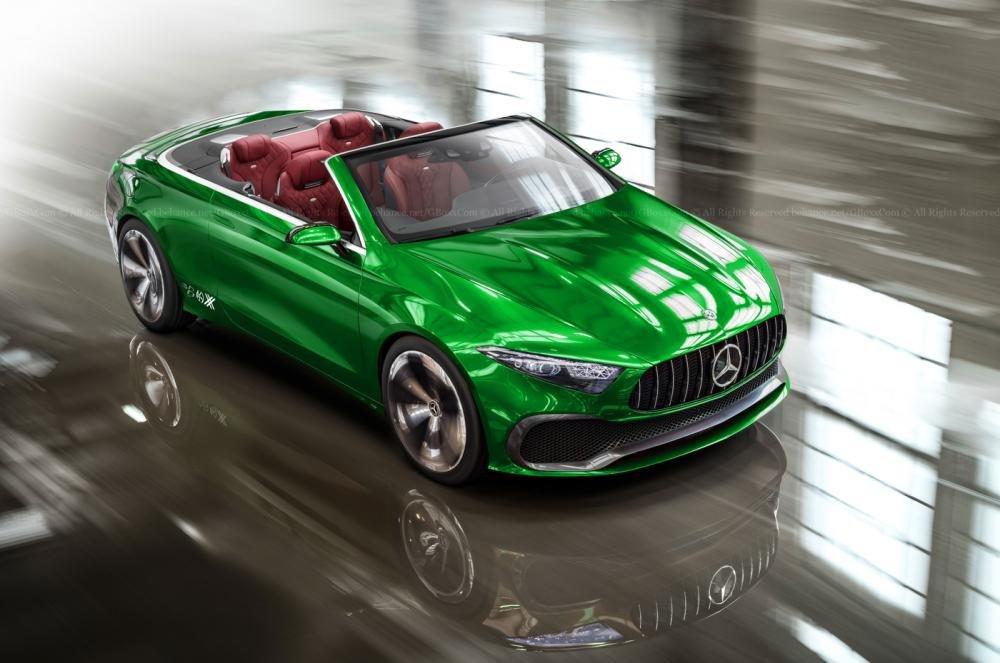Mercedes-Benz Concept A mui trần với màu xanh giống ''''''''đàn anh'''''''' AMG GT