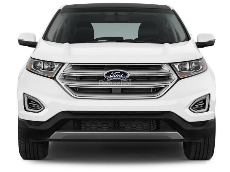 Đánh giá xe Ford Edge 2017: Thiết kế đầu xe khá vuông vức.