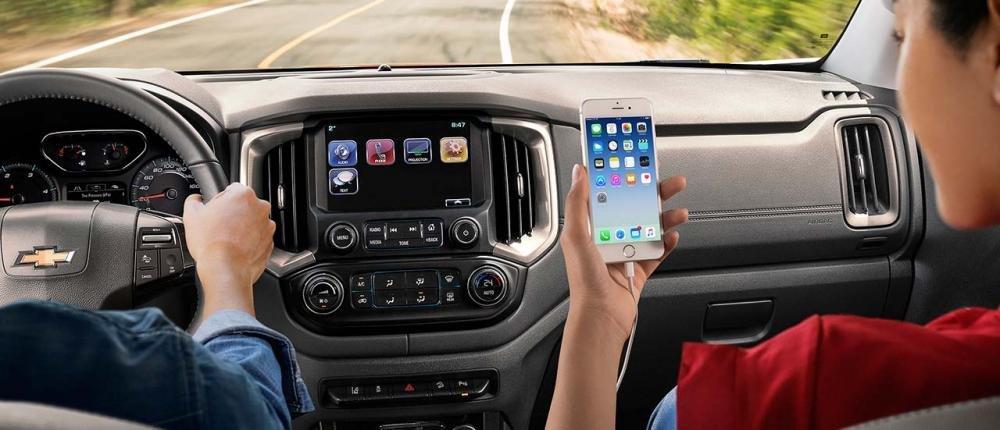 """Chevrolet Colorado 2017 được """"lên đời"""" hệ thống thông tin giải trí, nhỉnh hơn các đối thủ."""