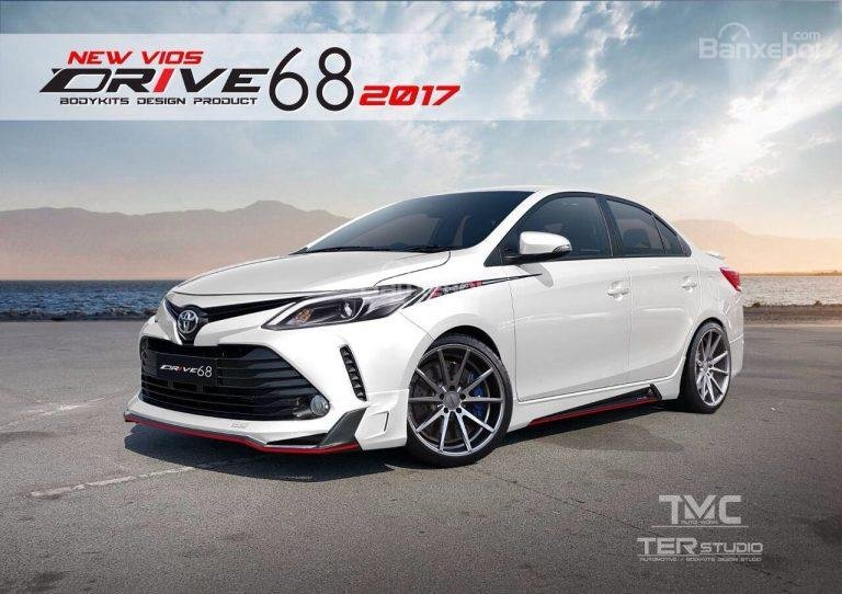 Toyota Vios 2017 có bộ body kit Ter Studio tại Thái Lan.