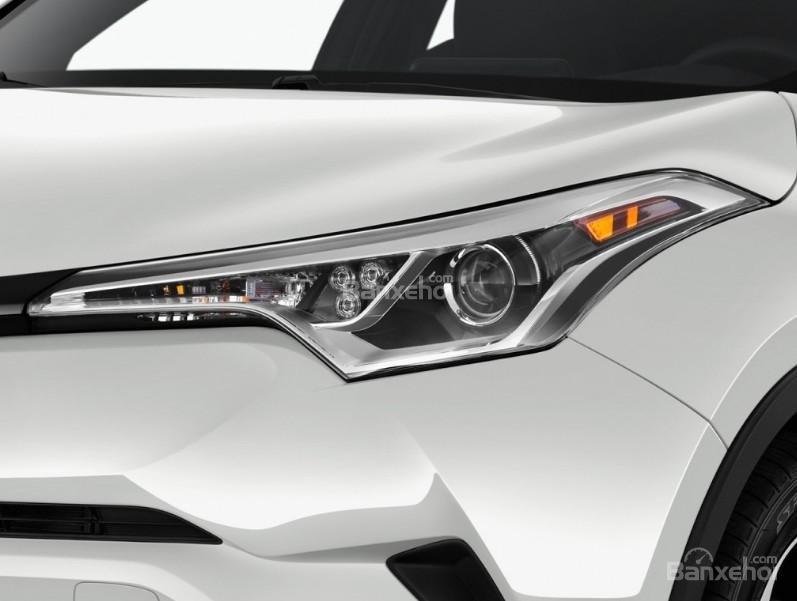 Đánh giá xe Toyota C-HR 2017: Đèn pha tích hợp LED.