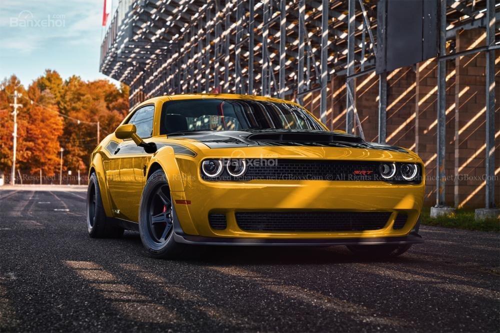 Chiêm ngưỡng Dodge Challenger SRT Demon bản mui trần thời thượng 3