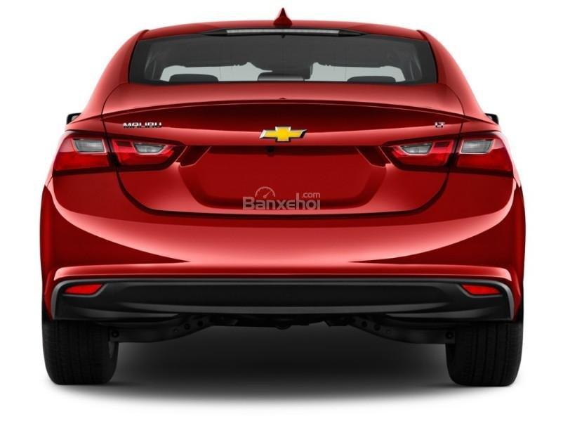 Đánh giá xe Chevrolet Malibu 2018: Đuôi xe nhìn chính diện.