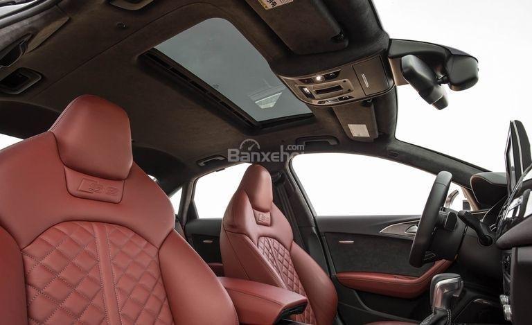 Đánh giá xe Audi S6 2017: Trần xe và cửa sổ trời.