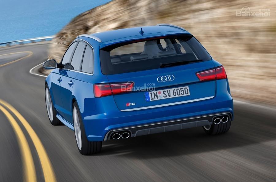 Đánh giá xe Audi S6 2017: Thiết kế đuôi xe.