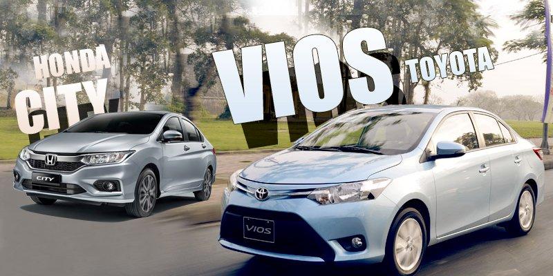 """So sánh xe Honda City 2017 và Toyota Vios 2017: Khi """"ông hoàng sedan"""" đối đầu kẻ thù truyền kiếp."""