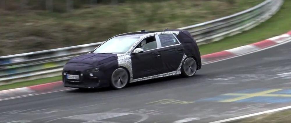 """Hyundai i30 N """"lộ nguyên hình"""" qua video mới nhất trên đường đua Nurburgring t731"""
