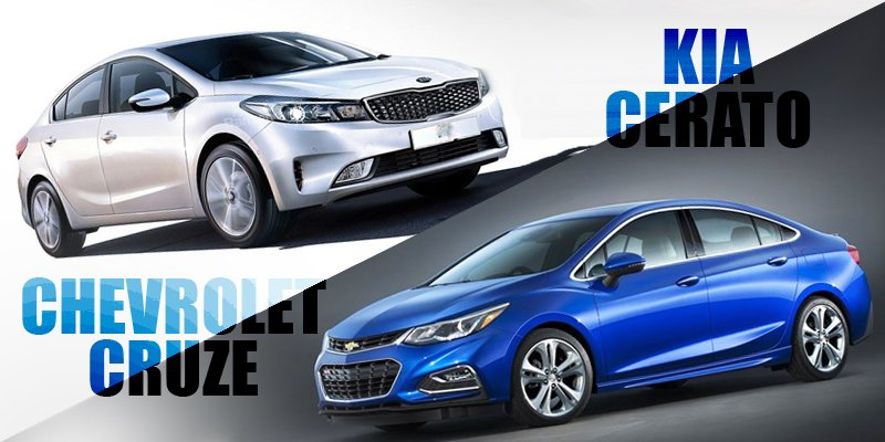 So sánh xe Chevrolet Cruze 2017 và Kia Cerato 2017: Cuộc chiến sedan 700 triệu.