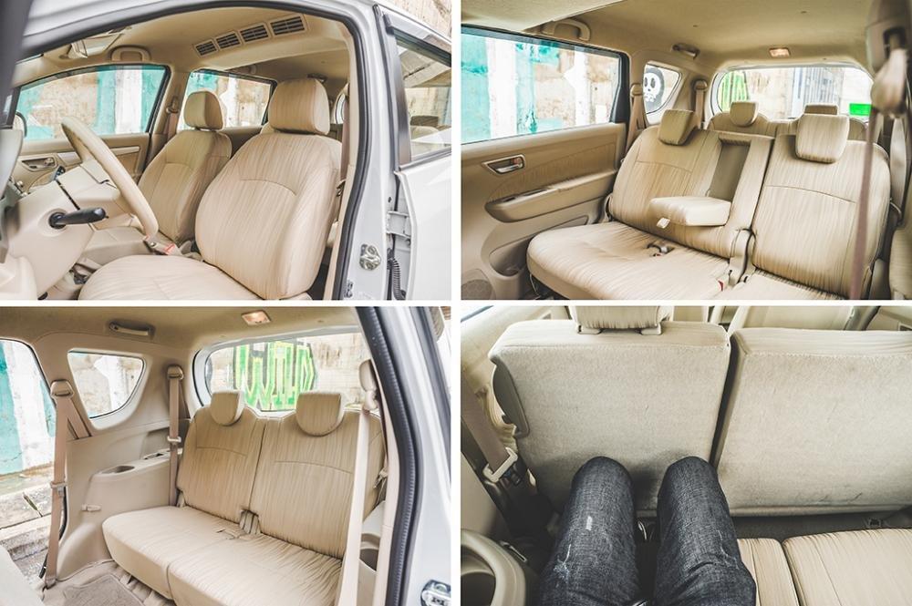 Tất cả ghế ngồi của Suzuki Ertiga 2017 đều được bọc nỉ cao cấp.