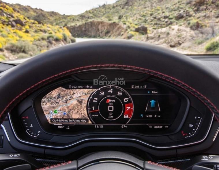 Đánh giá xe Audi S4 2018: Cụm đồng hồ trên xe.