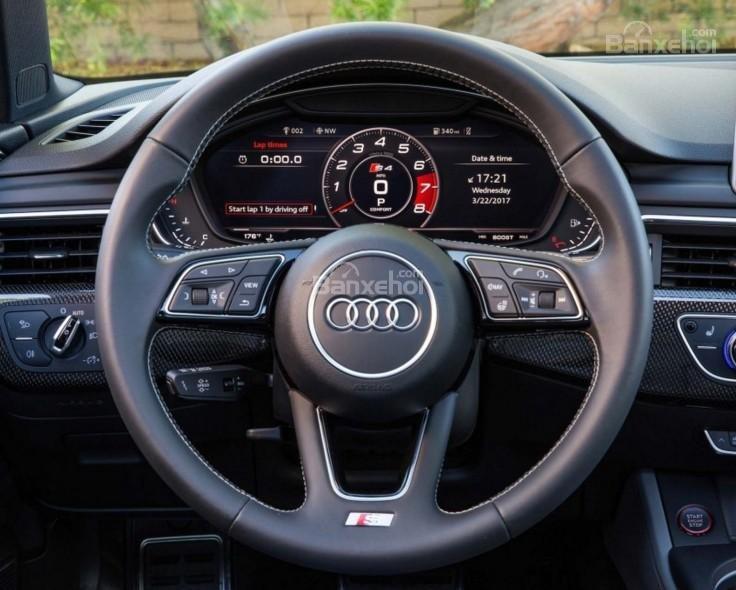 Đánh giá xe Audi S4 2018: Vô lăng bọc da.