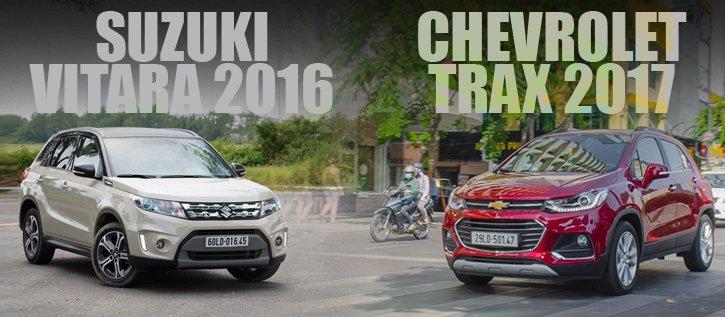 So sánh xe Chevrolet Trax 2017 và Suzuki Vitara 2016: Đại chiến SUV đô thị 800 triệu.