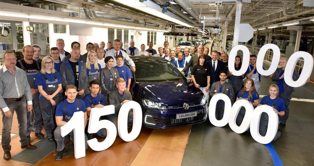 Volkswagen kỷ niệm chiếc xe thứ 150 triệu xuất xưởng.