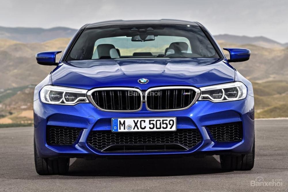 Đánh giá xe BMW M5 2018: Đầu xe mang đậm chất BMW.