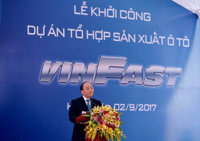 Thủ Tướng Nguyễn Xuân Phúc phát biểu tại lễ khởi công dự án a2