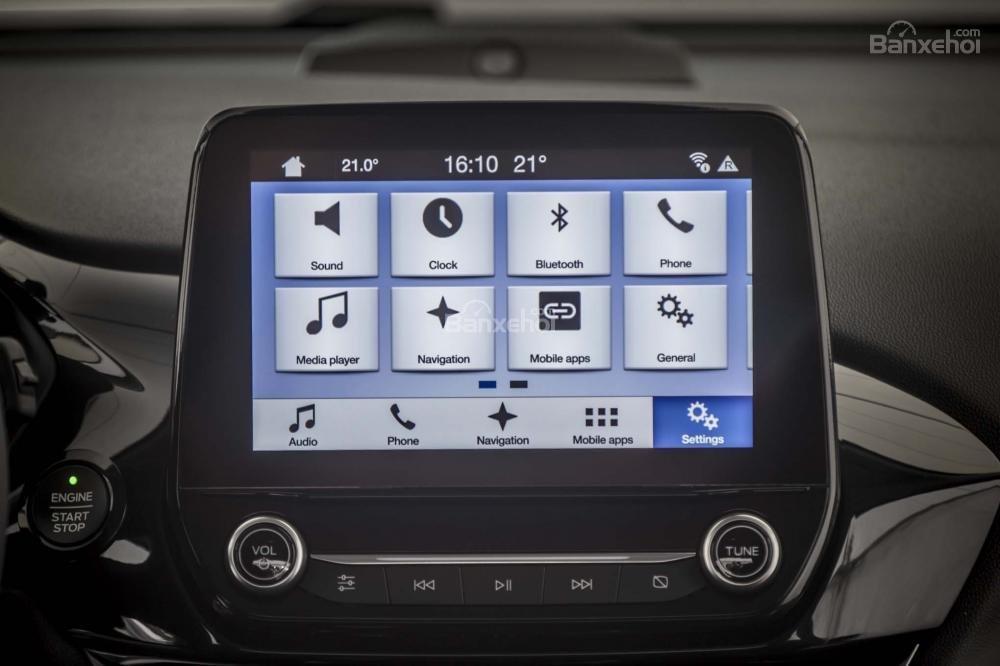Đánh giá xe Ford Fiesta 2018: Màn hình cảm ứng dạng tablet mới.