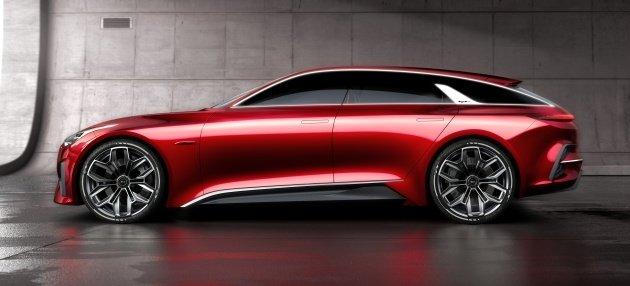 Sườn trái Kia Proceed Concept màu đỏ