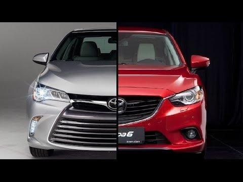 Ảnh chụp Toyota Camry và Mazda 6