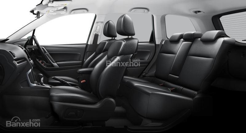 Hệ thống ghế ngồi bọc da sang trọng của Subaru Forester 2017