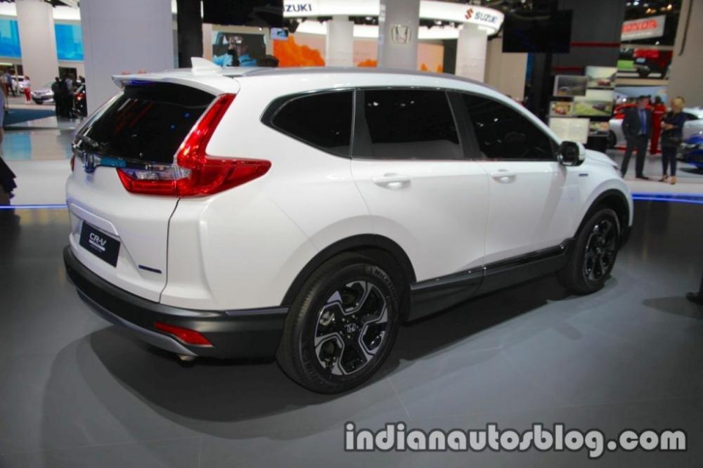 Honda CR-V Hybrid Prototype nhìn từ phía sau