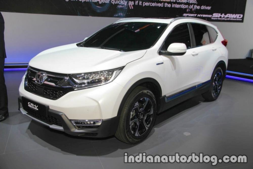 ô tô Honda CR-V Hybrid màu trắng