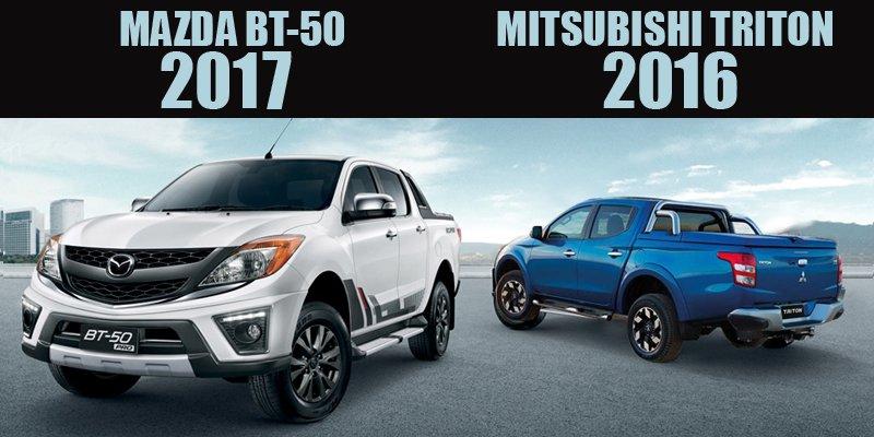 So sánh xe Mitsubishi Triton MIVEC 2017 và Mazda BT-50 2016: Xe Nhật đại chiến.