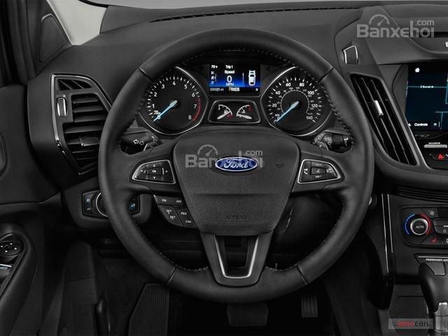 Đánh giá xe Ford Escape 2018: Vô-lăng có chất liệu kết hợp giữa vải và da