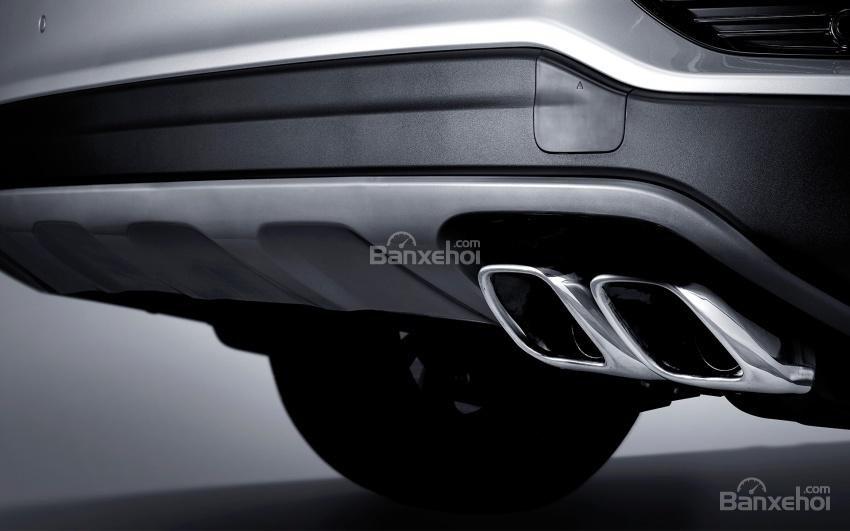 Đánh giá xe Kia Sorento 2018: Ống xả kép.