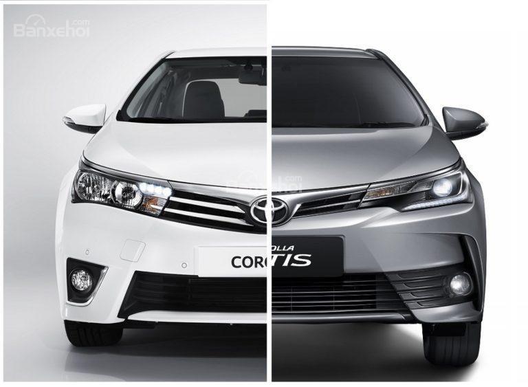 So sánh Toyota Corolla Altis cũ và mới.