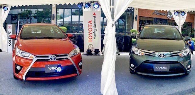 ảnh chụp Toyota Vios và Yaris phái trước