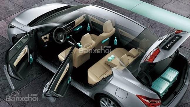 Đánh giá xe Toyota Corolla Altis 2017: Điều hòa 1 vùng, nhiều năng chứa đồ.