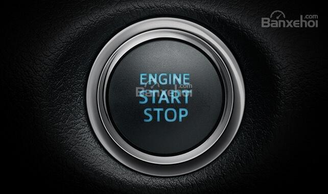 Đánh giá xe Toyota Yaris 2018: Nút khởi động.