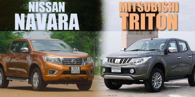 So sánh xe Nissan Navara và Mitsubishi Triton: Xe đường trường và xe đô thị.