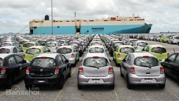 ô tô chờ xuất khẩu tại Thái Lan