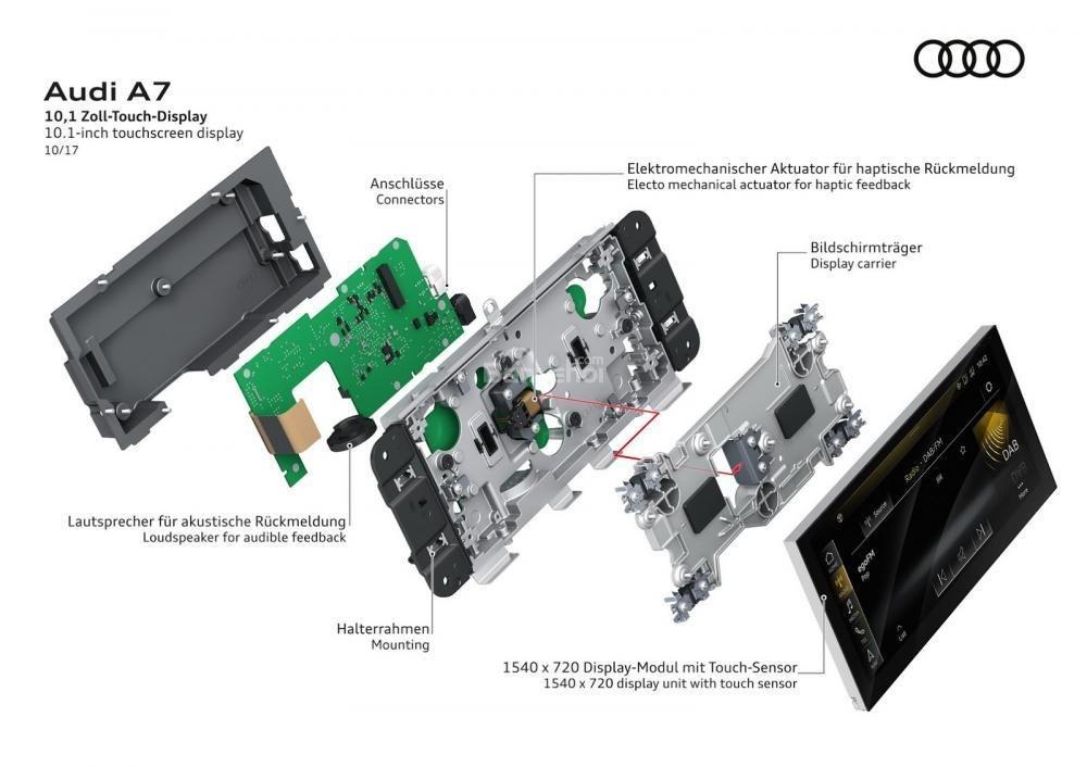 Màn hình cảm ứng 10,1 inch trên Audi A7 Sportback 2019