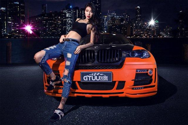 """Người đẹp """"chất lừ"""" bên xe độ BMW X6 a2"""