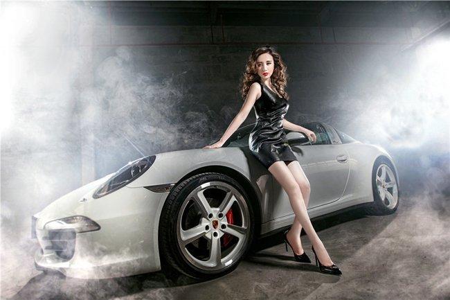 Người đẹp và xe Porsche 911 Targa 4S: Cổ điển và sang trọng a3