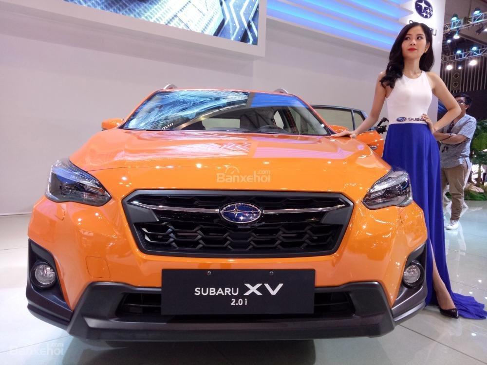 Đánh giá xe Subaru XV 2018: Đầu xe có thiết kế đáng chú ý.