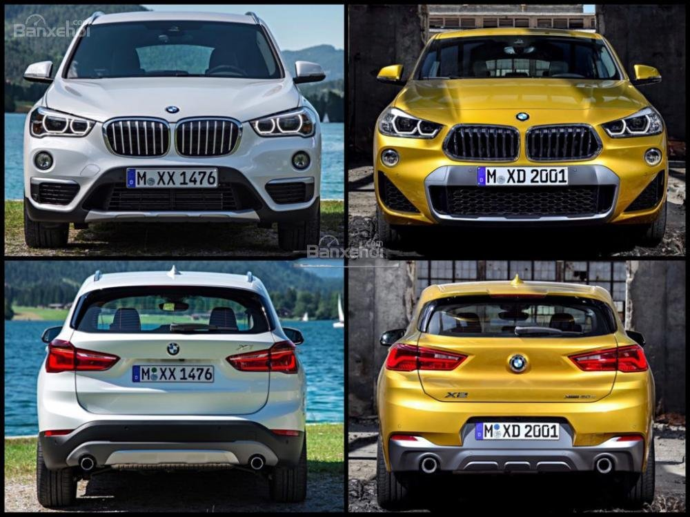 So sánh xe BMW X1 và X2 2018 hoàn toàn mới a2