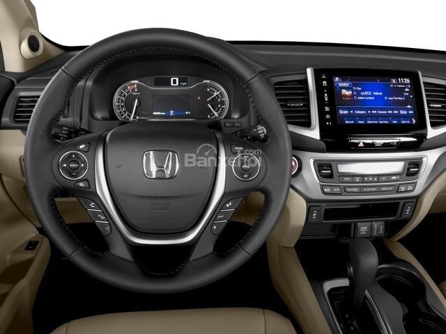 Đánh giá xe Honda Pilot 2017 về vô-lăng