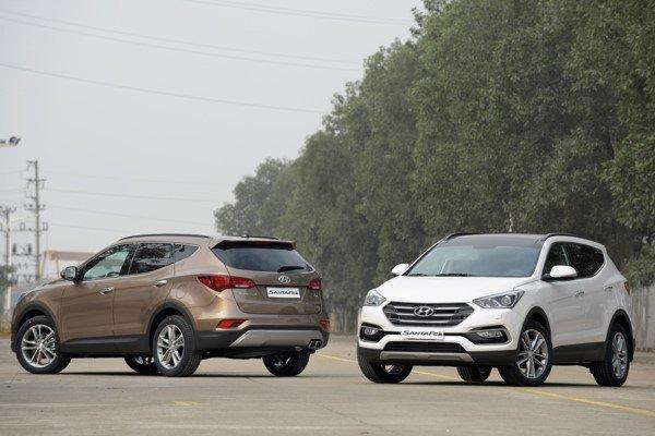 Hyundai Santa Fe chụp từ phía trước