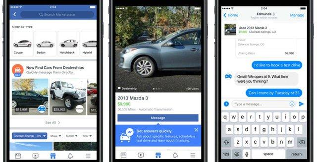Đặt mua xe ô tô dễ dàng trên Facebook.