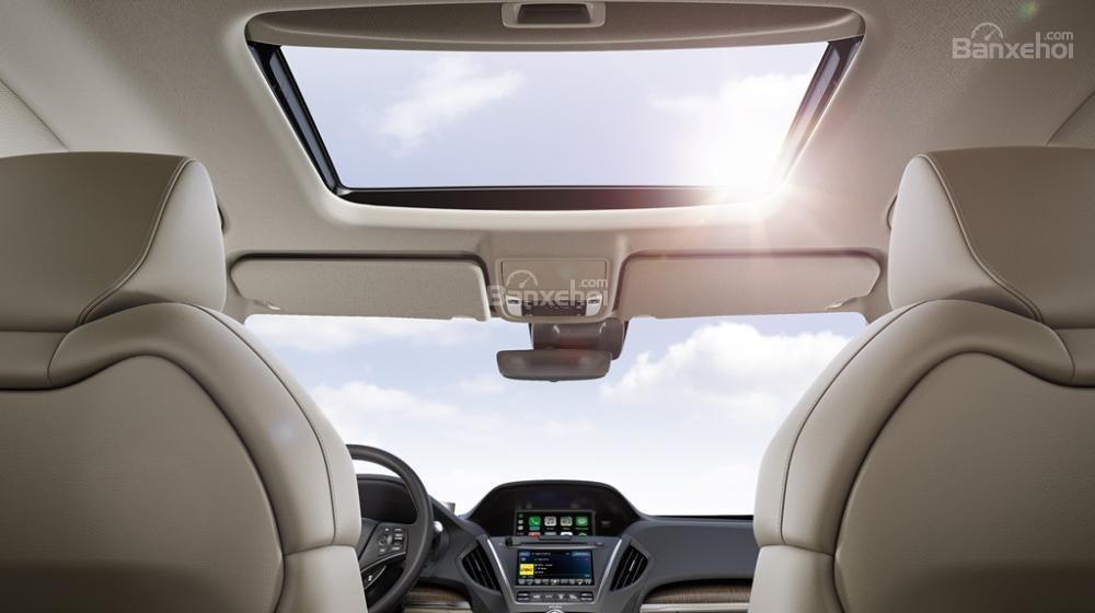 Đánh giá xe Acura MDX 2018: Cửa sổ trời toàn cảnh.