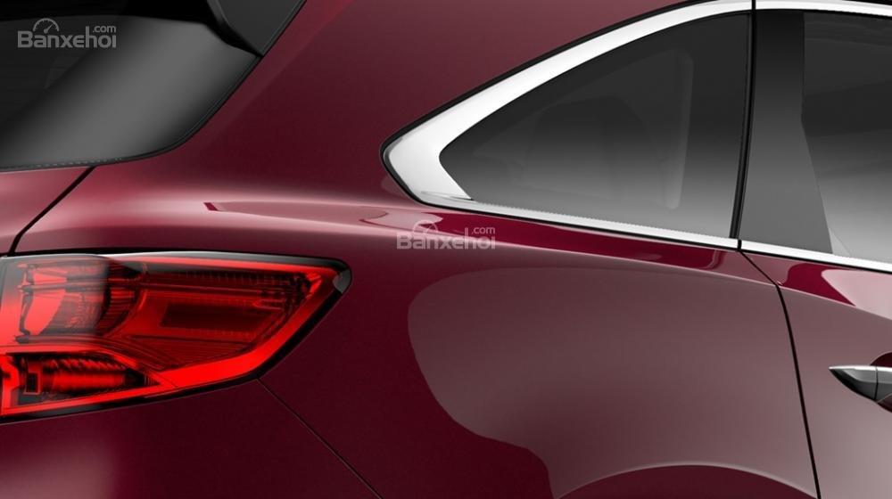 Đánh giá xe Acura MDX 2018 về thiết kế đuôi xe.